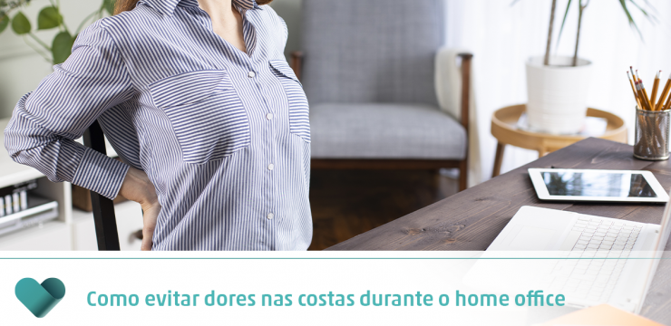 Como evitar dores nas costas durante o home office